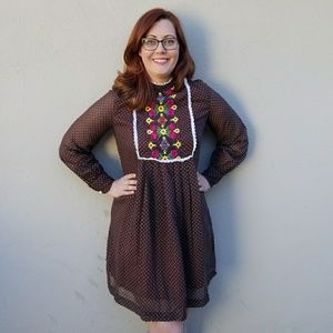 Vintage 60's Flower Child Tunic Dress